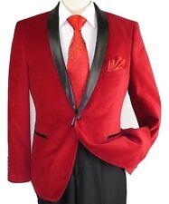 Mens Adolfo Velvet Dinner Jacket Shawl Satin Stage singer 3016J Christmas Red