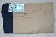 FRENCH TOAST BOY Uniform Pants Slacks Khaki NAVY Blue 4 - 20 Husky School KNEE