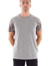 O'Neill CONCHA T-Shirt camiseta informal Disruptor Gris Patrón Cuello Redondo