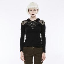 Punk Rave Gothic Rock Festive Long Sleeve Hooded Top T-shirt