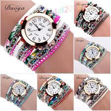 Vintage Women Lady Watch Quartz Watch Luxury Bracelet Flower Crystal Wristwatch
