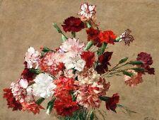 Carnations Flowers H. Fantin-Latour Tile Mural Kitchen Backsplash Ceramic 10x8