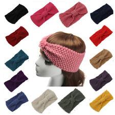 Women's Knitted Ear Warmer Bow Knot Headband Crochet Turban Bow Winter Hair Band