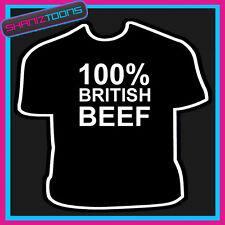 Culturista Halterofilia Gimnasio Boxer 100% vacuno británico T Shirt