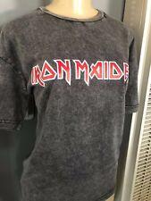 Women Vintage Fade Iron Maiden Shirt  Metal Band Legend Metallica Run Trooper