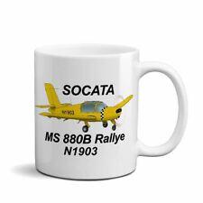 Socata Morane-Saulnier MS 880B Ceramic Mug - Personalized w/ N#