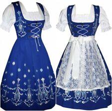 German Bavarian Dirndl Oktoberfest Dress Waitress Trachten Party XS S M L XL 2XL