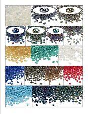 Bead GLASS Preciosa TWIN Seed BEADS Iris, AB & Rainbow Finishes Two Hole 2.5x5mm