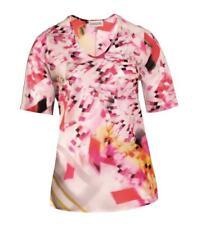 Chalou ❤ Tunika Shirt V-Ausschnitt Pink Baumwolle transparent Sommer Strand