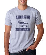 AMERICAN HUNTER flag deer season outdoors dad husband Father's Day gift T-Shirt