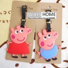 PEPPA PIG GEORGE PIG KID Travel Luggage Tag School Bag Silicone CARTOON NEW