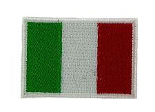 Lotto di 5/10/25/50  bandiera batch toppe toppa ricamata italia termoadesivo 2/3