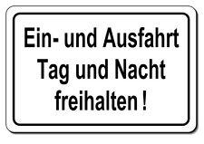 Einfahrt-Ausfahrt-freihalten-Schild-Alu-25x15 oder 30x20 cm-Warnschild-Parken