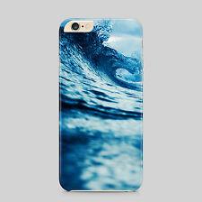 Olas azules Océano Agua Aqua teléfono caso para IPhone HTC Samsung Sony LG Huawei