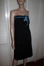 Ruth Anthroopologie Little Black Strapless Dress 10
