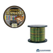 (0,02 €/m) 1000m carpa filo lenza Kong TEAM CARP Camou Rainbow Monofilamento