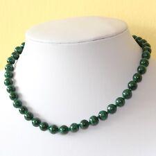 8mm Malachite Necklace 8 mm Malakite Beads Various Lengths Genuine Malachite