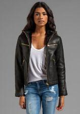 Women Leather Jacket Soft Solid Lambskin New Handmade Motorcycle Biker S M # 40