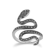 Gemondo Plata De Ley 925 0.46ct Marcasita Art Nouveau Serpiente Anillo