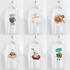 Kawaii Delicious Food Printed Short Sleeve T-shirt Women Girl Tee Top Basic