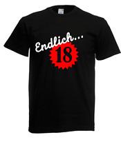 Herren T-Shirt  Endlich 18 I Sprüche I Fun I Lustig bis 5XL