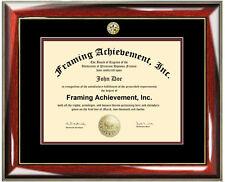 University Diploma Frame College Major Seal Graduation Certificate Degree Plaque