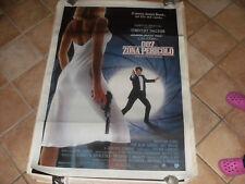 MANIFESTO 007 ZONA PERICOLO TIMOTHY DALTON 100X140 1987
