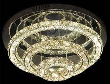NewLuxury LED Round 3side Crystal Circle Lamp 3 Tier Ring Ceiling Light Lighting