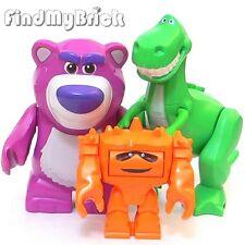 L03 - Lego Toy Story Dinosaur Rex Lotso Bear Chunk Minifigures - 7597 7598 NEW