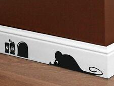 Designer - Adorable SOURIS ET TROU - mural / Voiture / portatif autocollant neuf