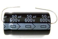 Qty 2 New Miec 50Uf 600V 105C Axial Electrolytic Capacitors