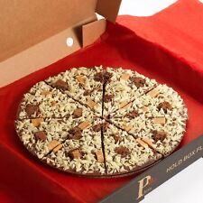 "10"" Inch Gourmet Chocolate Pizza Belgian Milk Choc Gift Present Stocking Filler"