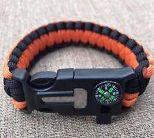 Survival Paracord Bracelet Multi Use with Compass