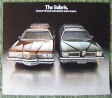 Pontiac Safari STATION carri delle vendite di automobili opuscolo 1973 (USA stampa)
