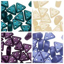 eMMA  3-Hole Czech Glass Beads 3x6mm, 10 Grams NEW !!!