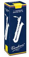 5 Vandoren Traditional Baritone Saxophone Reeds 2 2.5 3 3.5 Free Del (inc box)