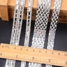 Rhinestone Ribbon Beaded Iron On Applique Trim Bridal Embellishments Unique New