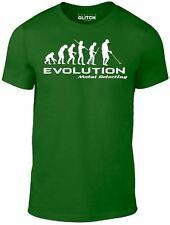 Metal Detector Evolution t shirt - Funny t-shirt Darwin theory hobby retro nerd