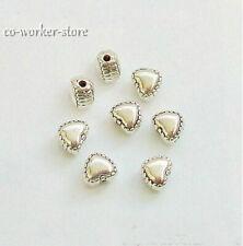 100 500pcs heart shape ANTIQUE Tibet Silver alloy Spacer Beads 6*5mm