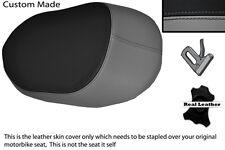 GREY & BLACK CUSTOM FITS BMW K 1200 K 1300 GT 06-12 REAR LEATHER SEAT COVER