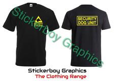 Security Dog Unit T Shirt Top Hoodie Logo K9 Uniform Handler Apparel Security