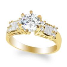 JamesJenny Ladies 10K Yellow Gold 1.1ct Round CZ Engagement Ring Size 4-10