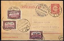 Hungary1920 uprated 1st Flightcard Budapest-Szombathely