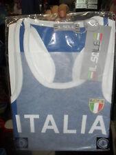 1 T-SHIRT AZZURRA  ITALIA  CALCIO PIRLO BALOTELLI   CANOTTIERA CANOTTA ITALIA