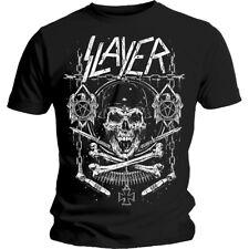 Slayer Skull & Bones Show No Mercy Thrash Metal Official Tee T-Shirt Mens Unisex