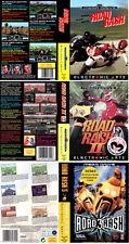 Road Rash 1 2 3 Sega Megadrive Genesis PAL NTSC Replacement Box Art Case Insert