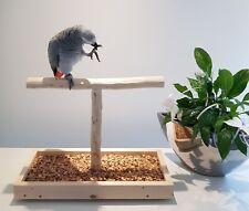 TISCHFREISITZ Freisitz für FENSTERBANK Papageienfreisitz Papageienspielzeug