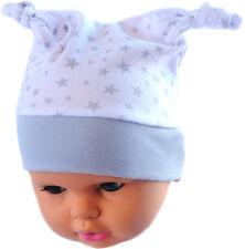 Zipfel Mütze Baby Mützchen Babymütze Haube Knotenmütze Haube 34-46cm Weiß
