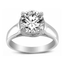 Diamonette Solitaire Trellis Engagement Ring 14k White Gold 1ct Tgw Round-cut