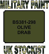 BS381 298 OLIVE DRAB MILITARY PAINT METAL STEEL HEAT RESISTANT ENGINE  VEHICLE